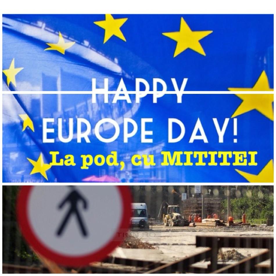 Podul de Flori - 9 Mai - Ziua Europei la Timisoara